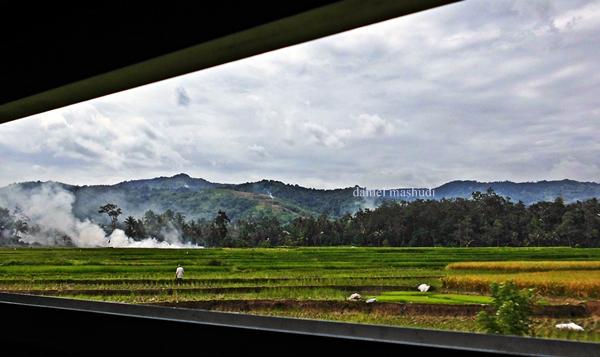 Pemandangan kereta api